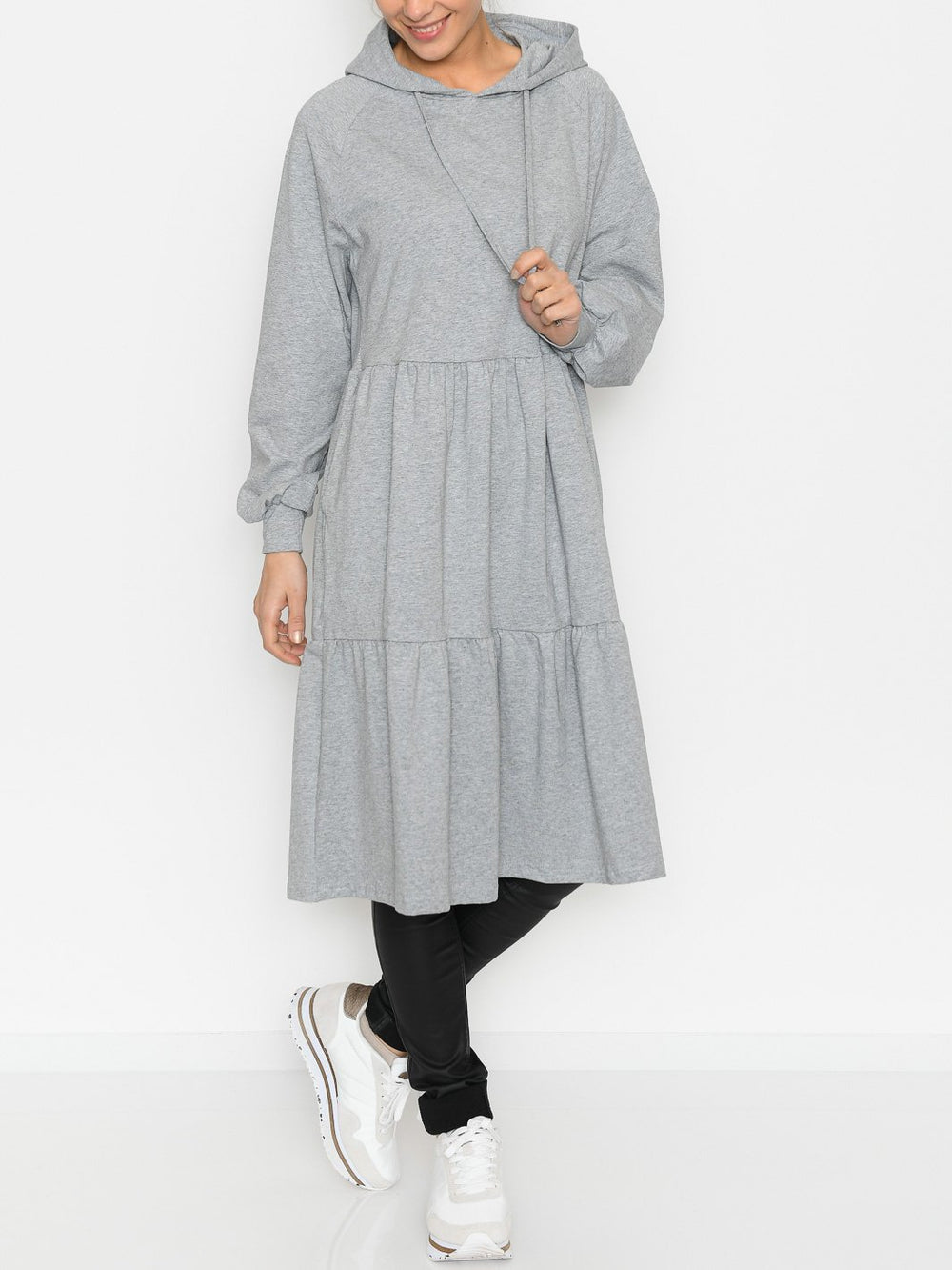 Liberté Melissa dress grey melange - Online-Mode