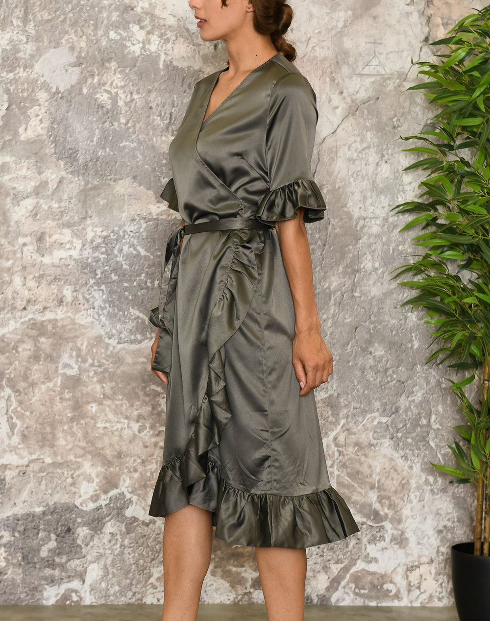 Liberté Sol wrap dress army - Online-Mode