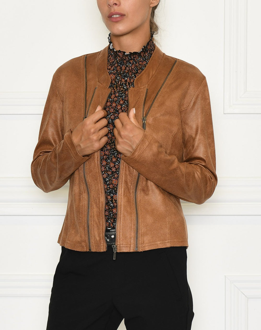 Luxzuz Athena coated suede jacket leather - Online-Mode