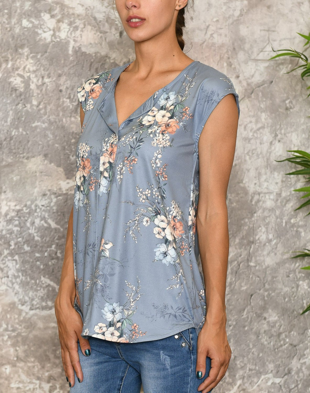 Luxzuz Ingradia top vintage blue - Online-Mode