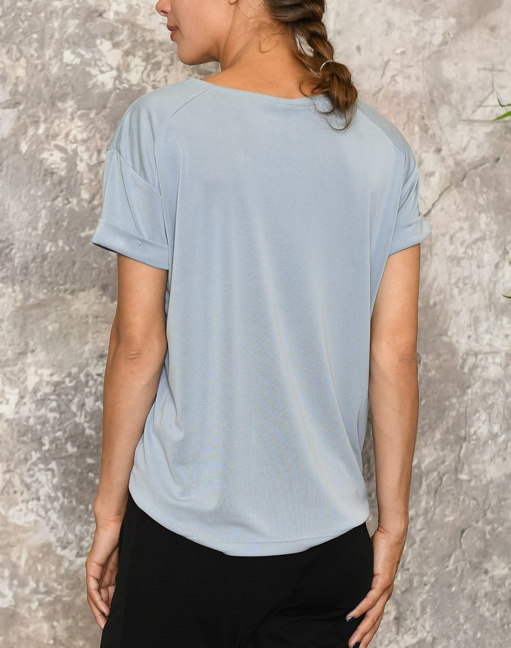 Luxzuz Karin t-shirt 1782 pale blue - Online-Mode