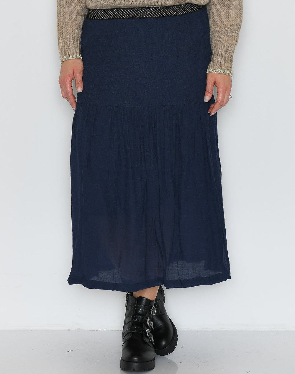Luxzuz Karitas skirt dark navy - Online-Mode