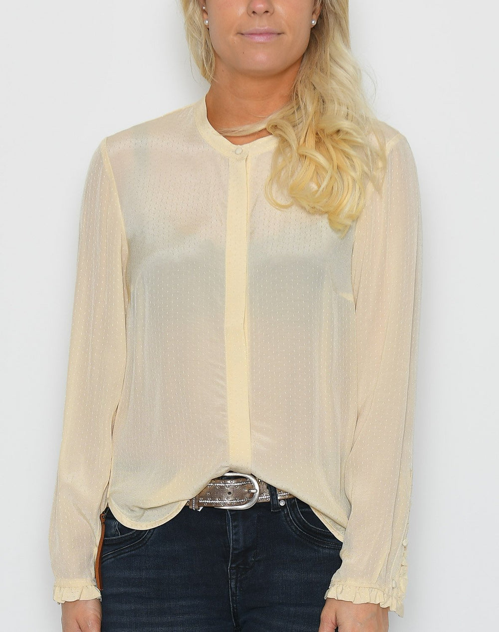 Luxzuz Magdalenia shirt off white - Online-Mode