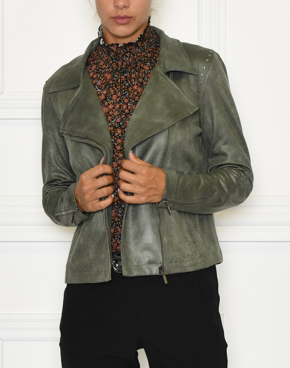 Luxzuz Majka coated suede jacket army - Online-Mode