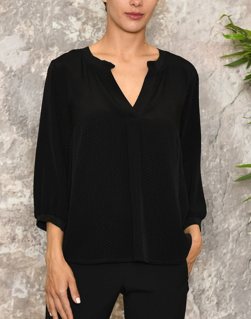 Luxzuz Paulina bluse black - Online-Mode