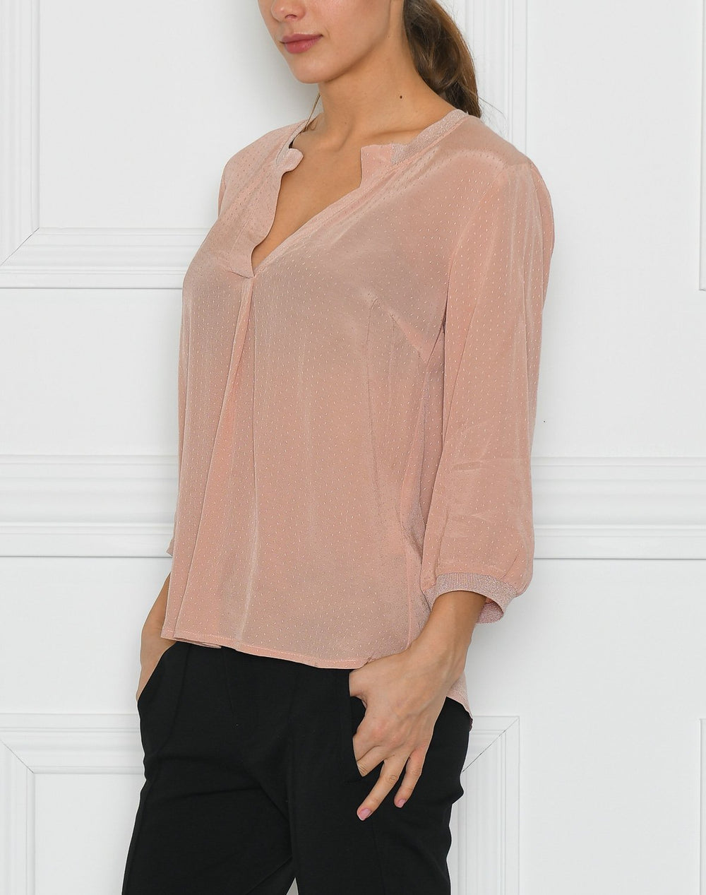Luxzuz Paulina bluse dusty powder - Online-Mode