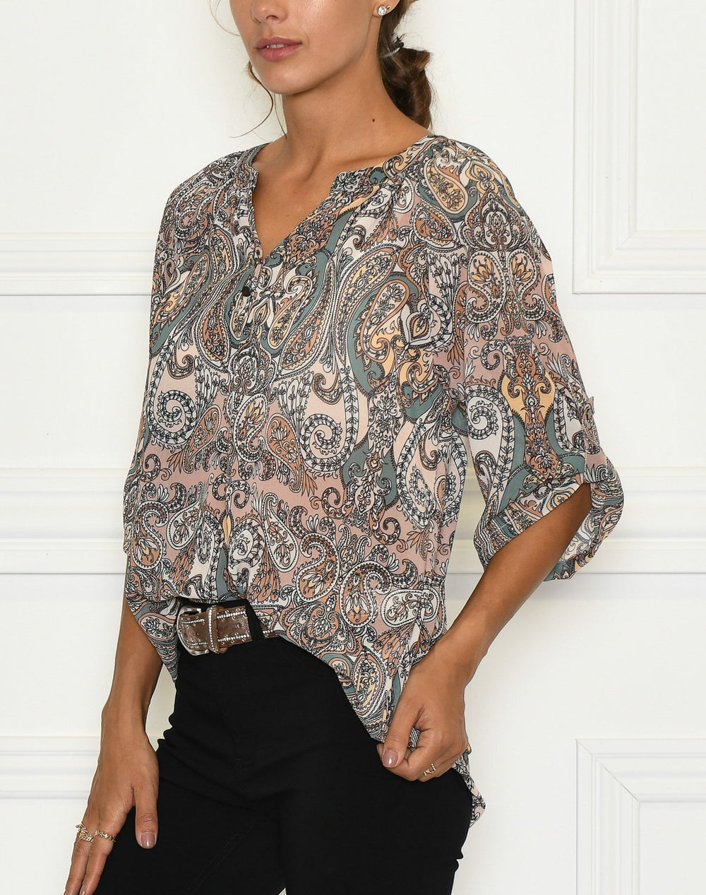 Luxzuz Ranva Blouse peacan brown - Online-Mode