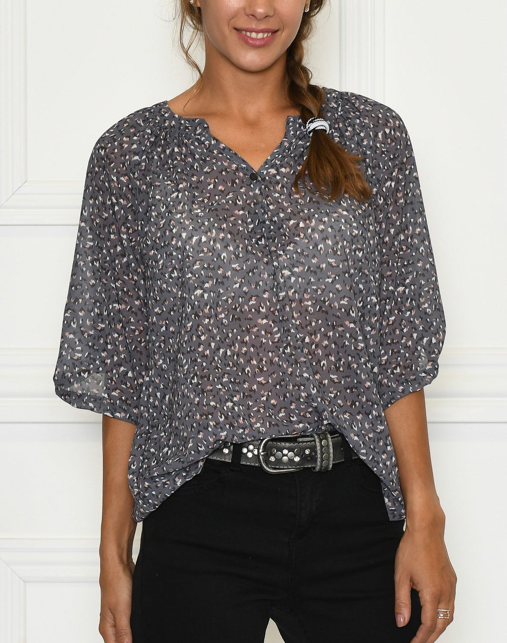 Luxzuz Ranva Blouse rock grey - Online-Mode