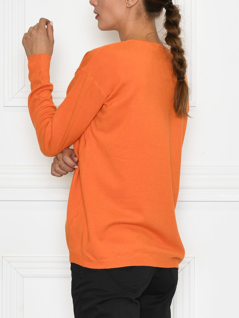 Mapp Trine zip cardigan bright orange - Online-Mode