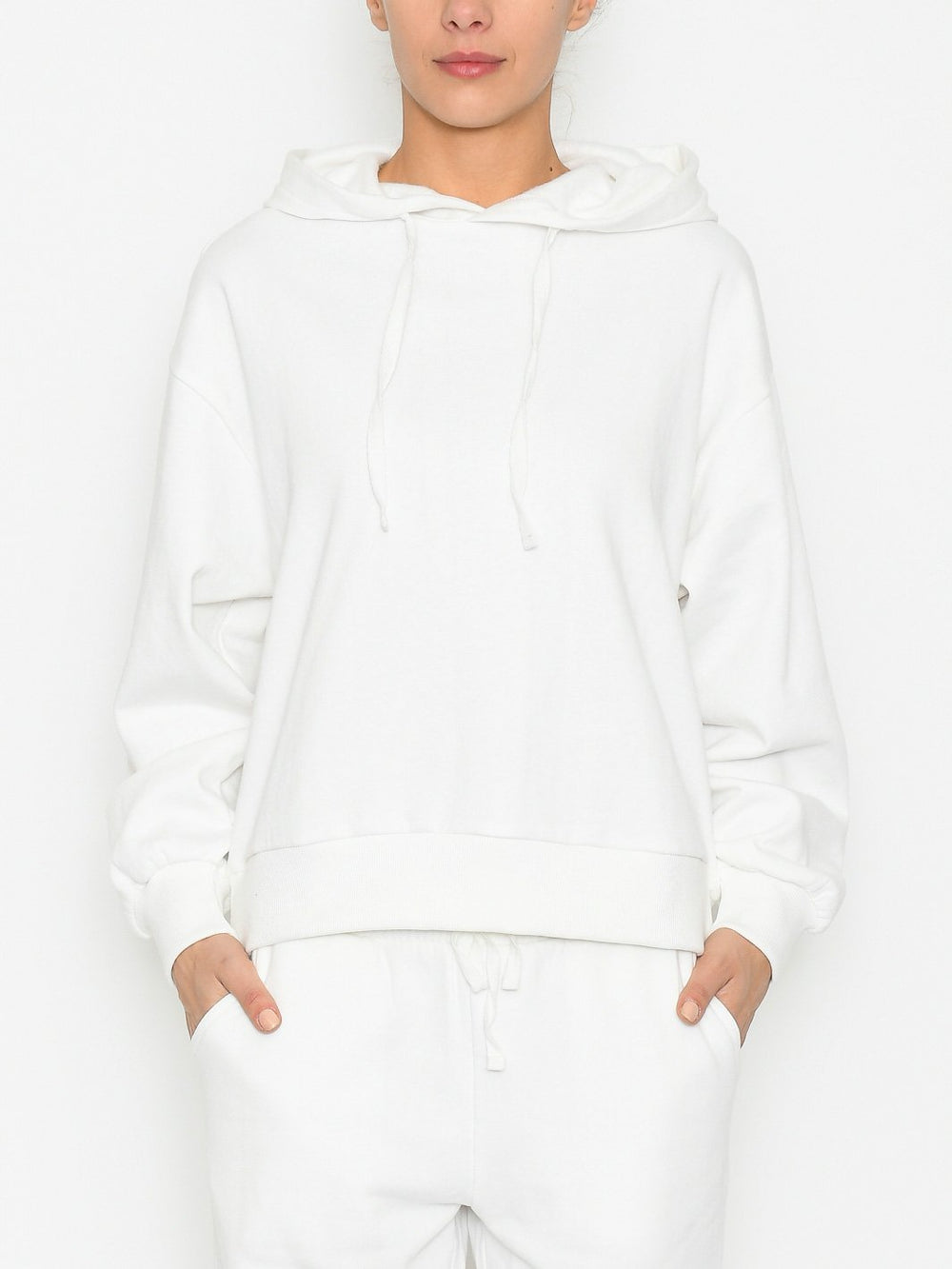 Marc Lauge Tonia hoodie sweat white - Online-Mode