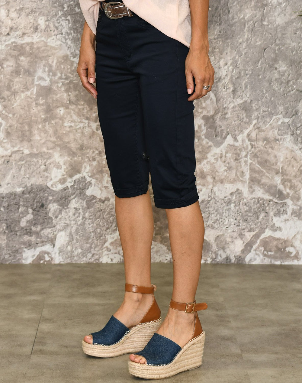 Marie capri pants navy - Online-Mode