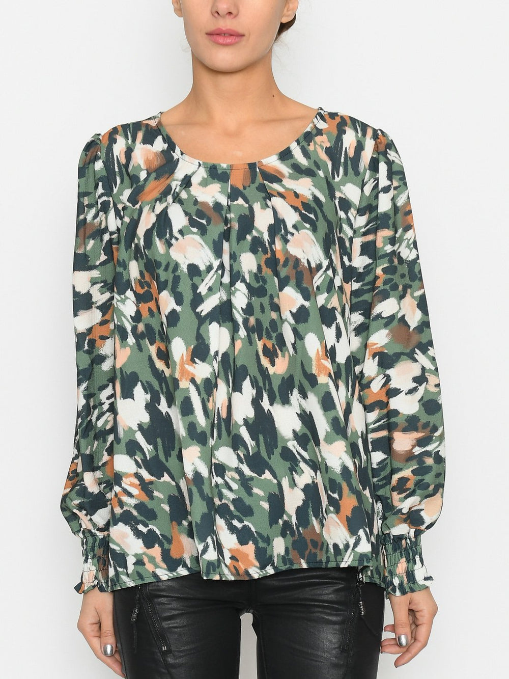 Milla bluse green - Online-Mode