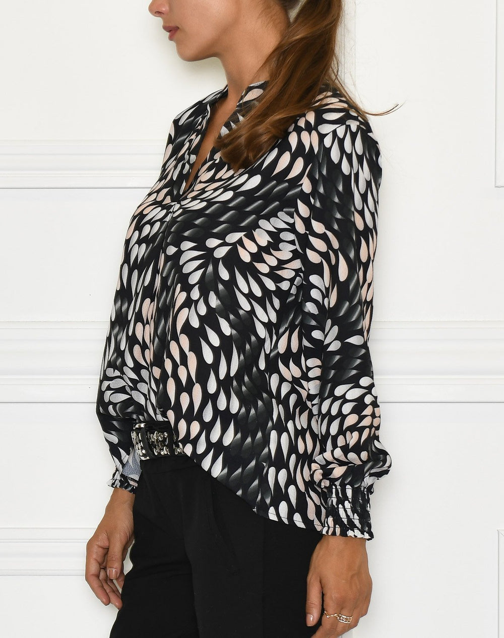 Milly bluse black mix - Online-Mode