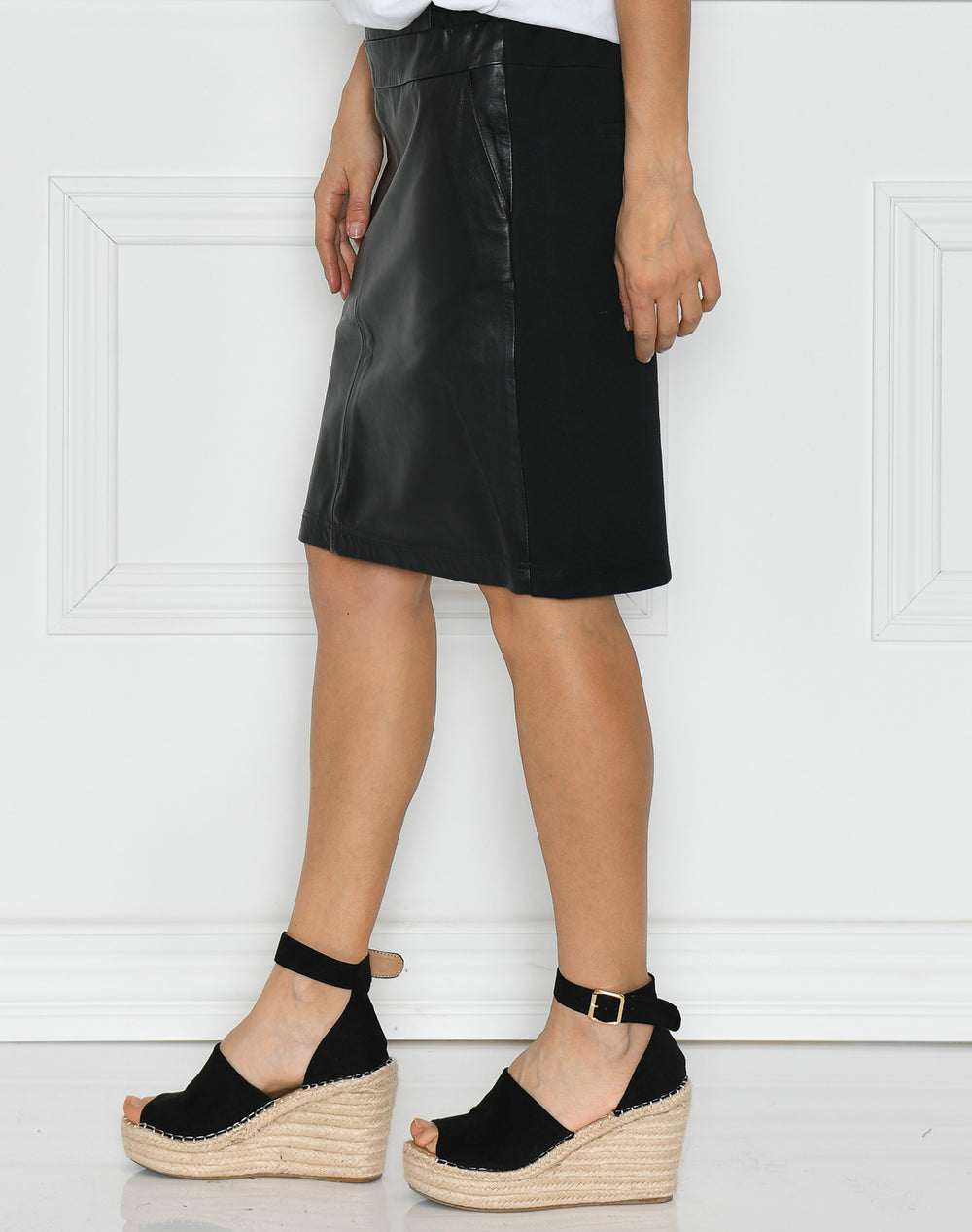 Kaffe Sofie leather skirt black deep
