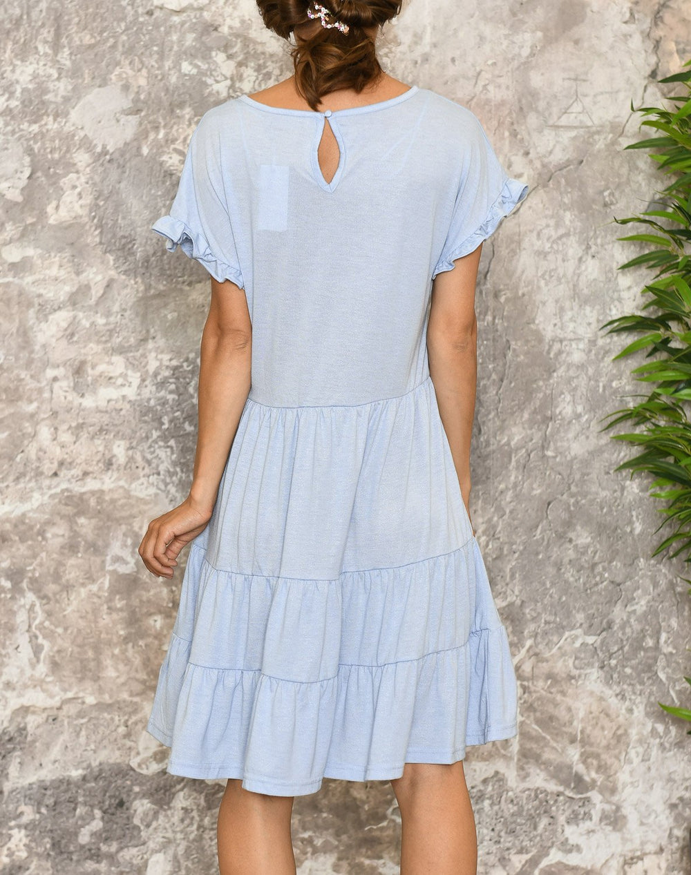 B.young BXtrille dress sky blue