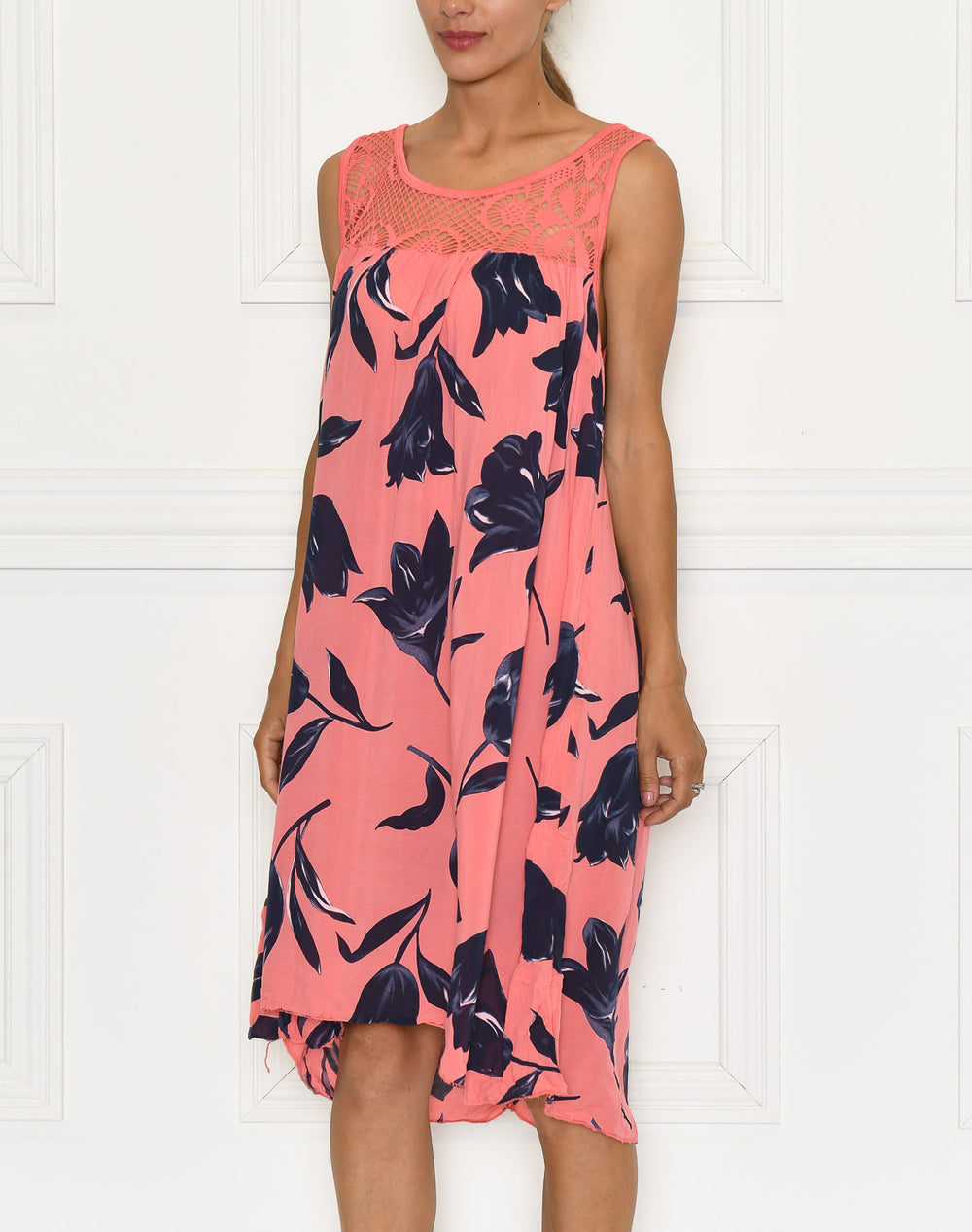 Luna dress bright coral