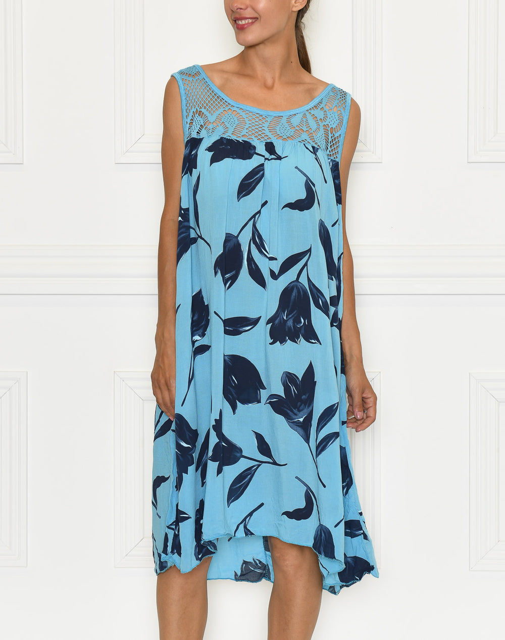 Luna dress turquoise blue