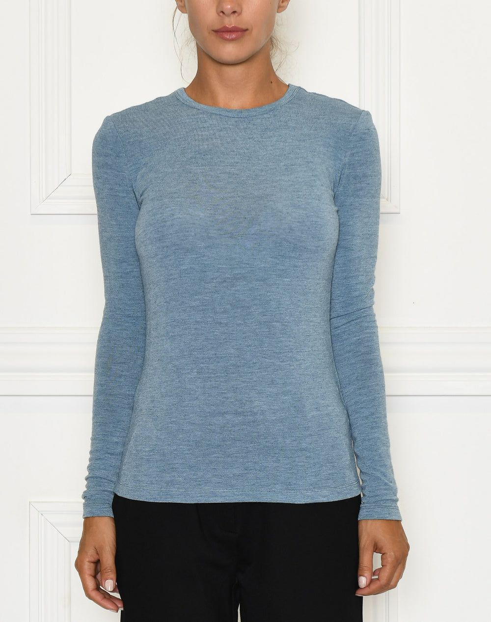 Soft Rebels Valentina LS top smoke blue