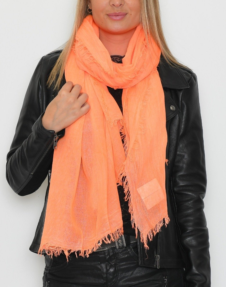 Money scarf bright orange - Online-Mode