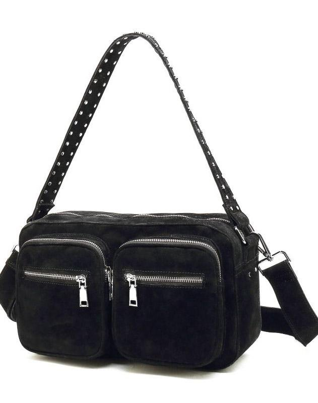 Noella Celia crossover bag black real suede - Online-Mode