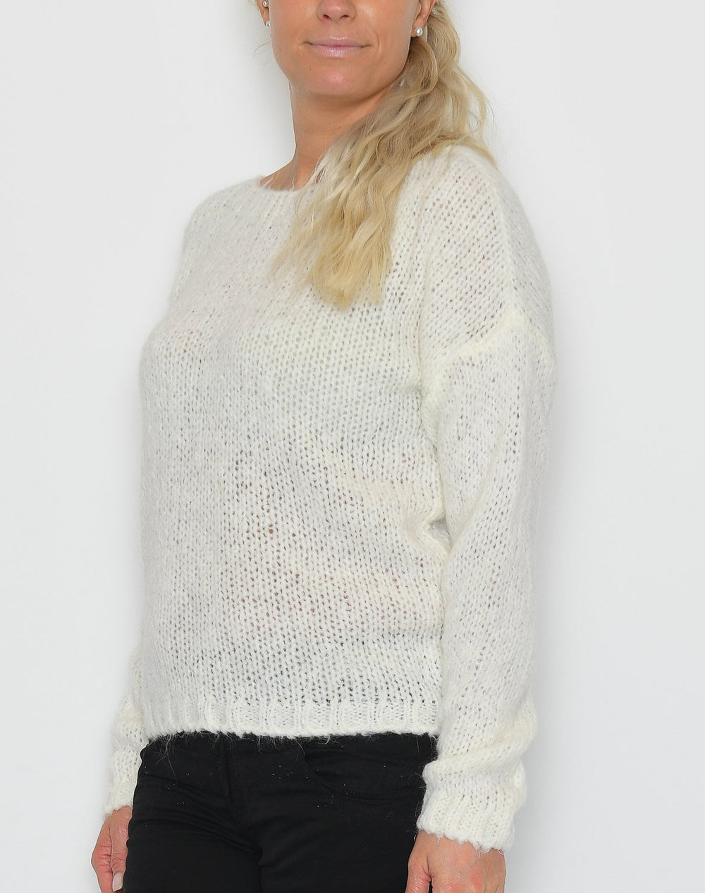 Noella Kala knit sweater white - Online-Mode