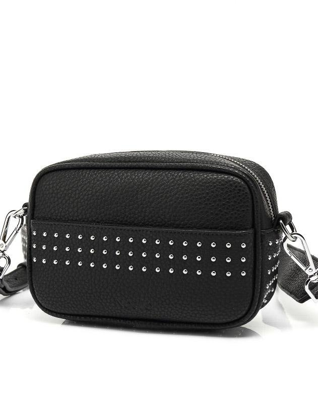 Noella Lina crossover bag small black nappa look - Online-Mode