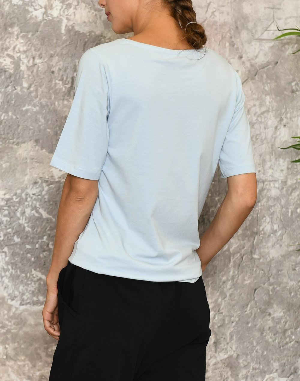 Ofelia Figen t-shirt light blue - Online-Mode