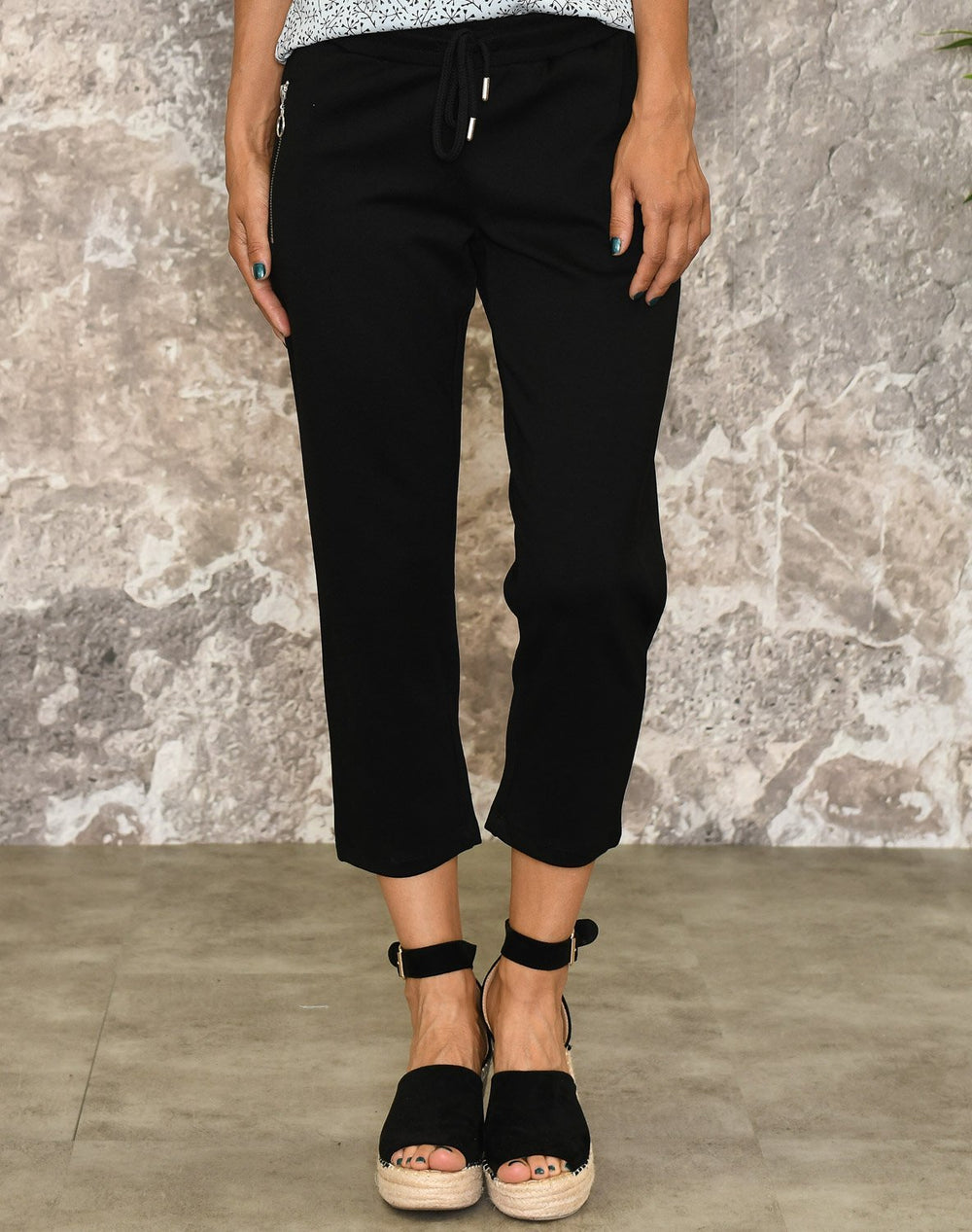 Ofelia Frida pirate solid pants black - Online-Mode