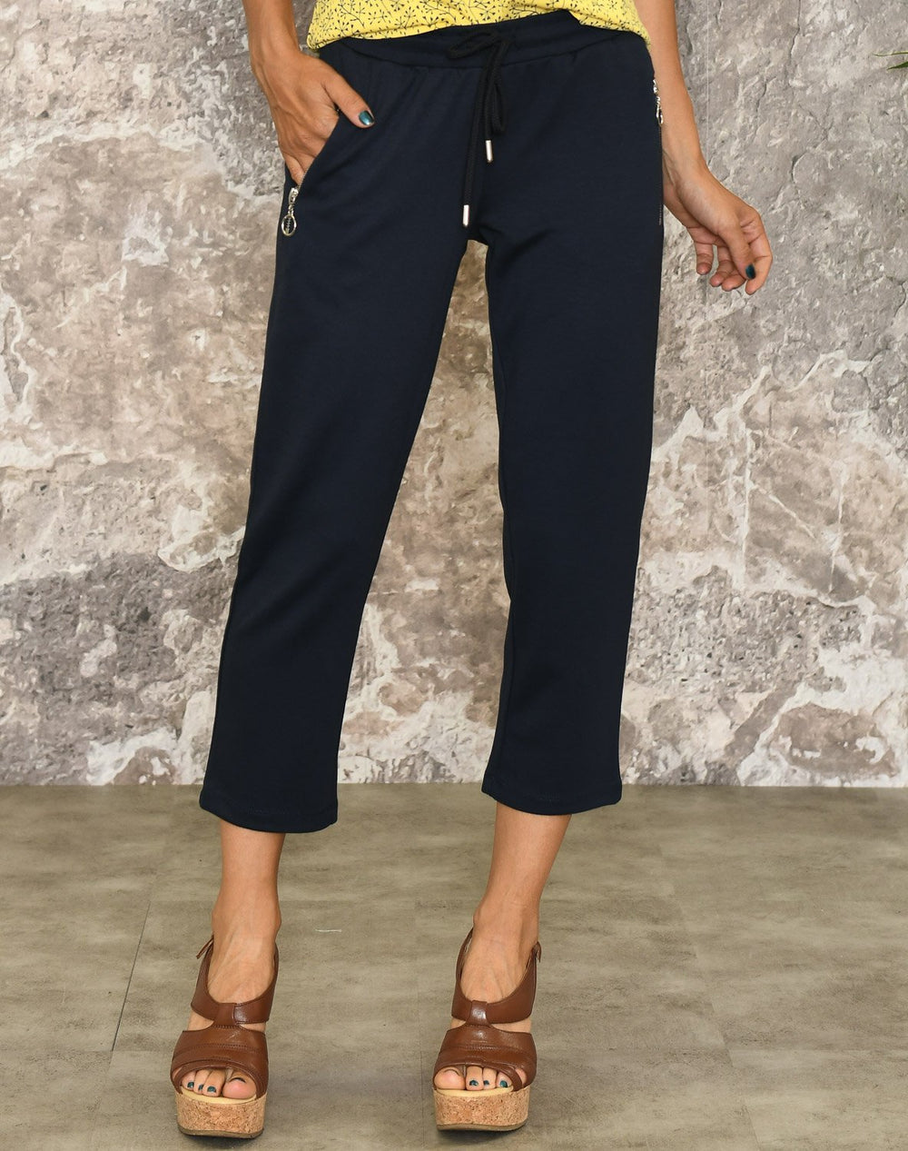 Ofelia Frida pirate solid pants navy - Online-Mode