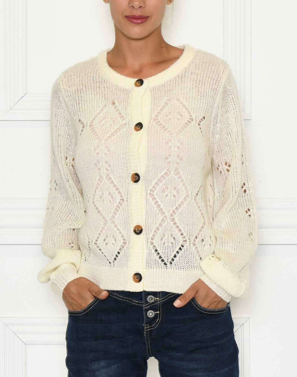 Ofelia Rachel knit off white - Online-Mode
