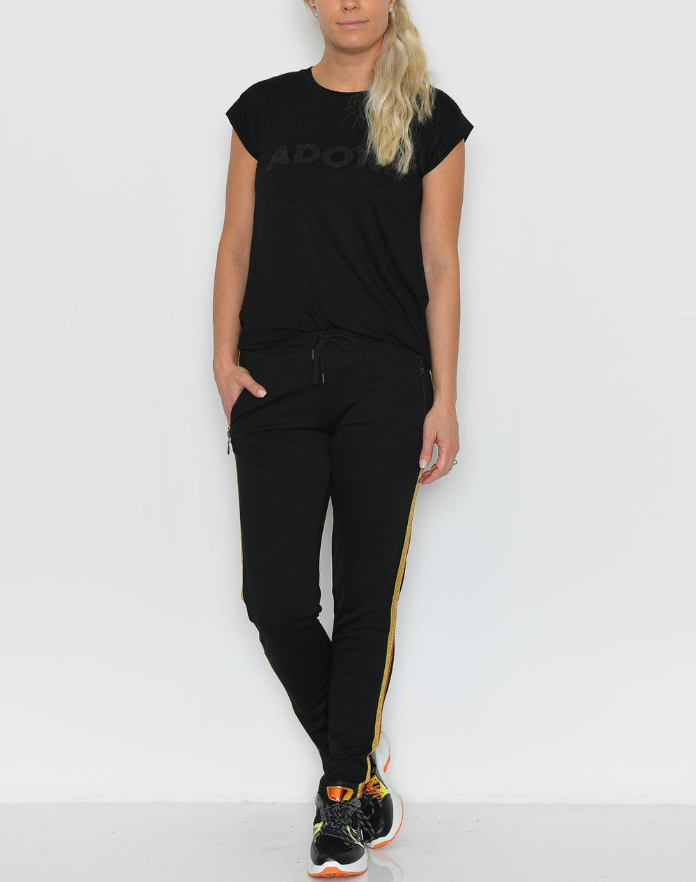 Ofelia Siri 2 pants black/kanel golden combi - Online-Mode