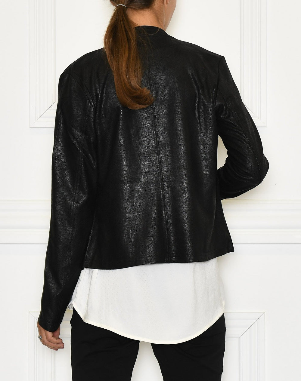 One Two Athena coated suede jacket black - Online-Mode