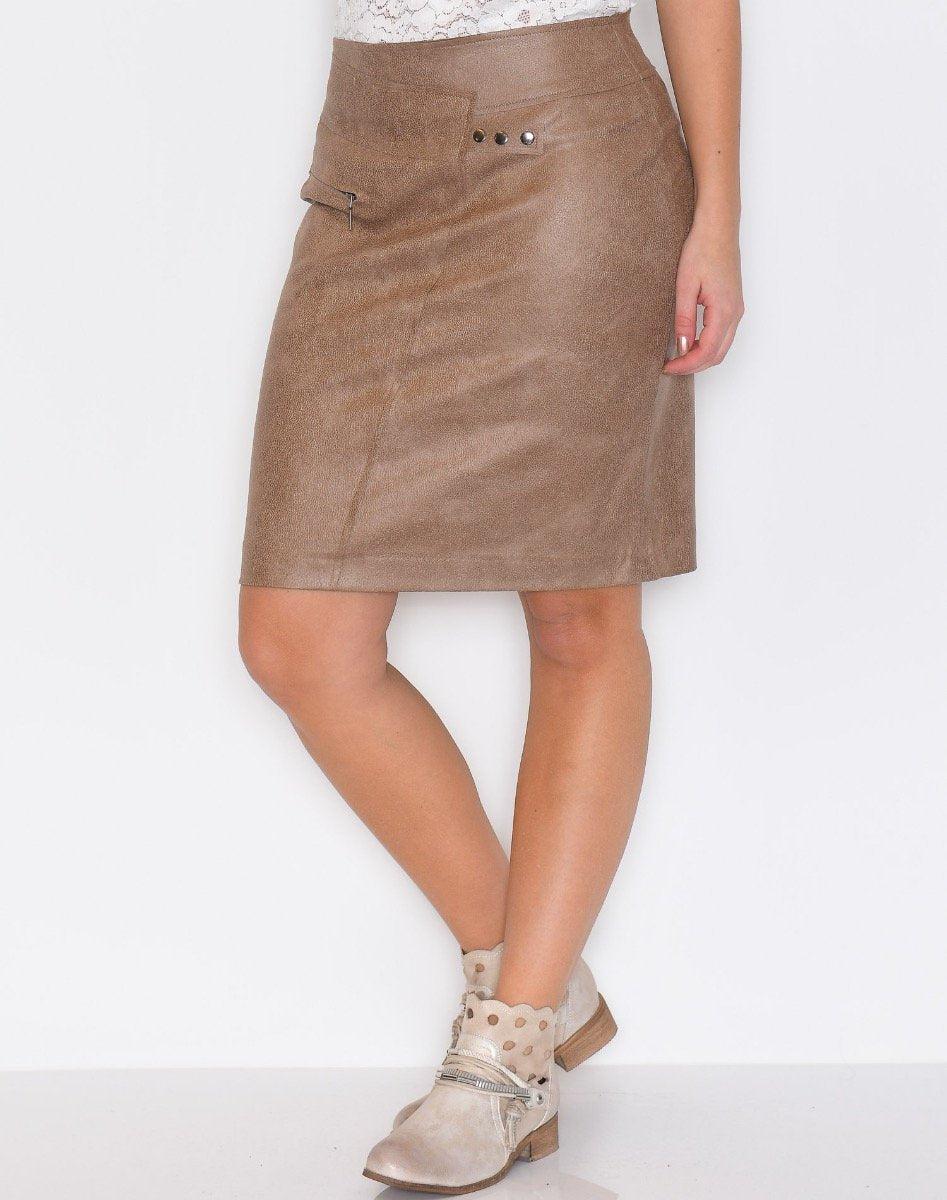 One Two Fabienne skirt bark brown - Online-Mode