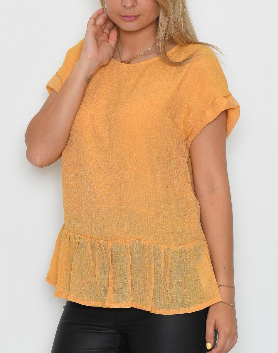 One Two Leciann bluse honey gold - Online-Mode