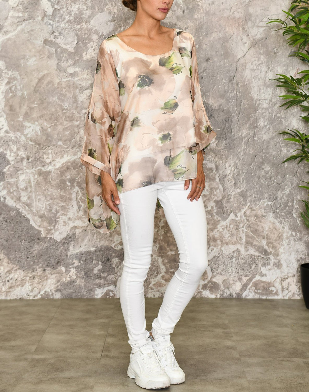 Ophelia bluse beige mix - Online-Mode