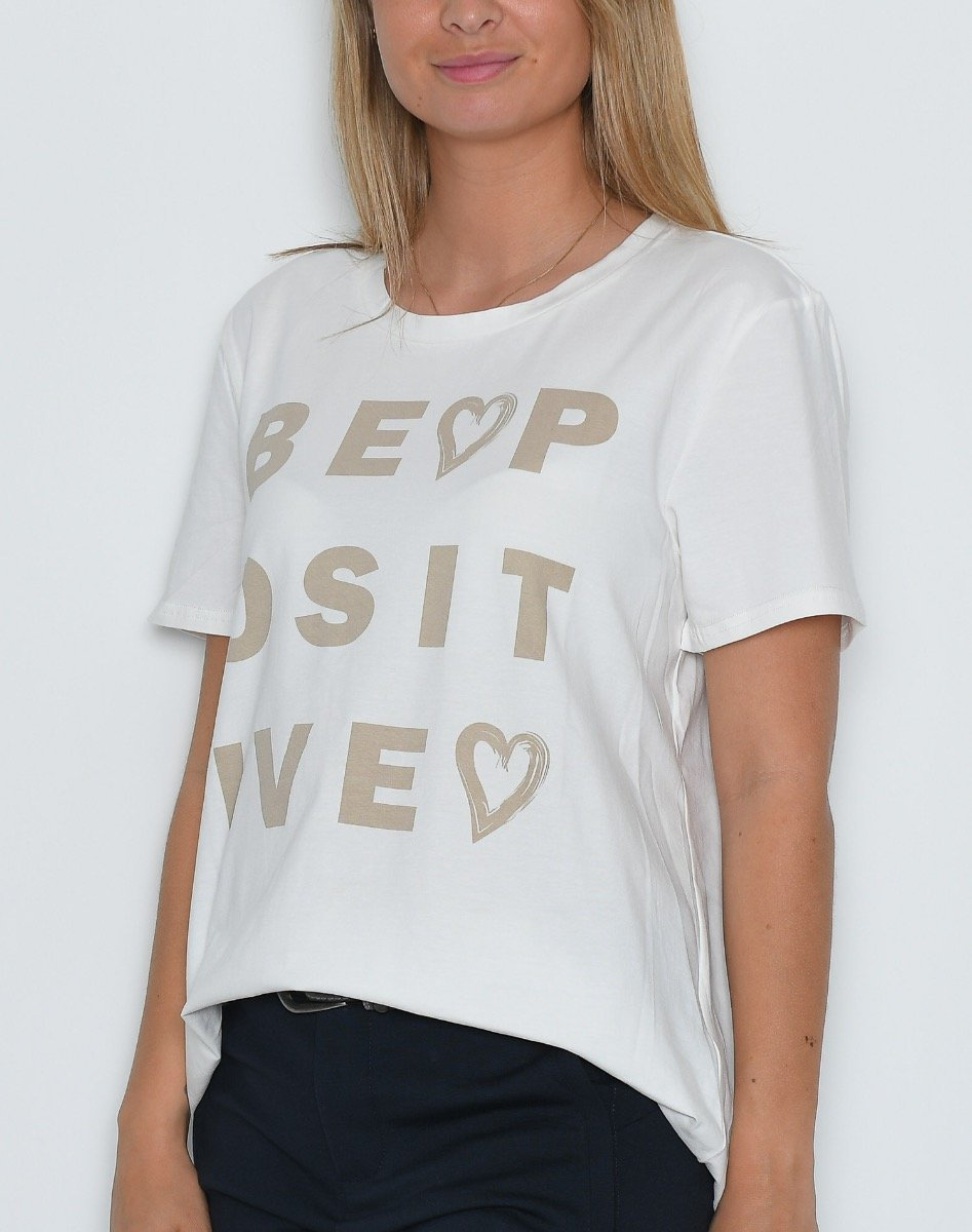 Prepair Be Positive t-shirt off white - Online-Mode
