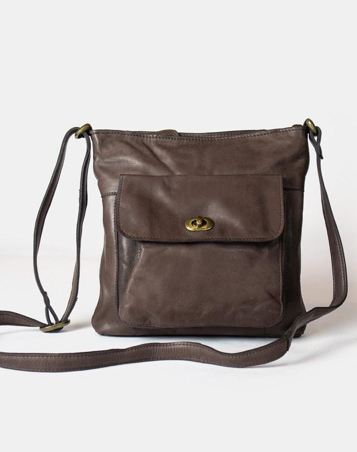 RE:Designed Kay lædertaske dark brown - Online-Mode