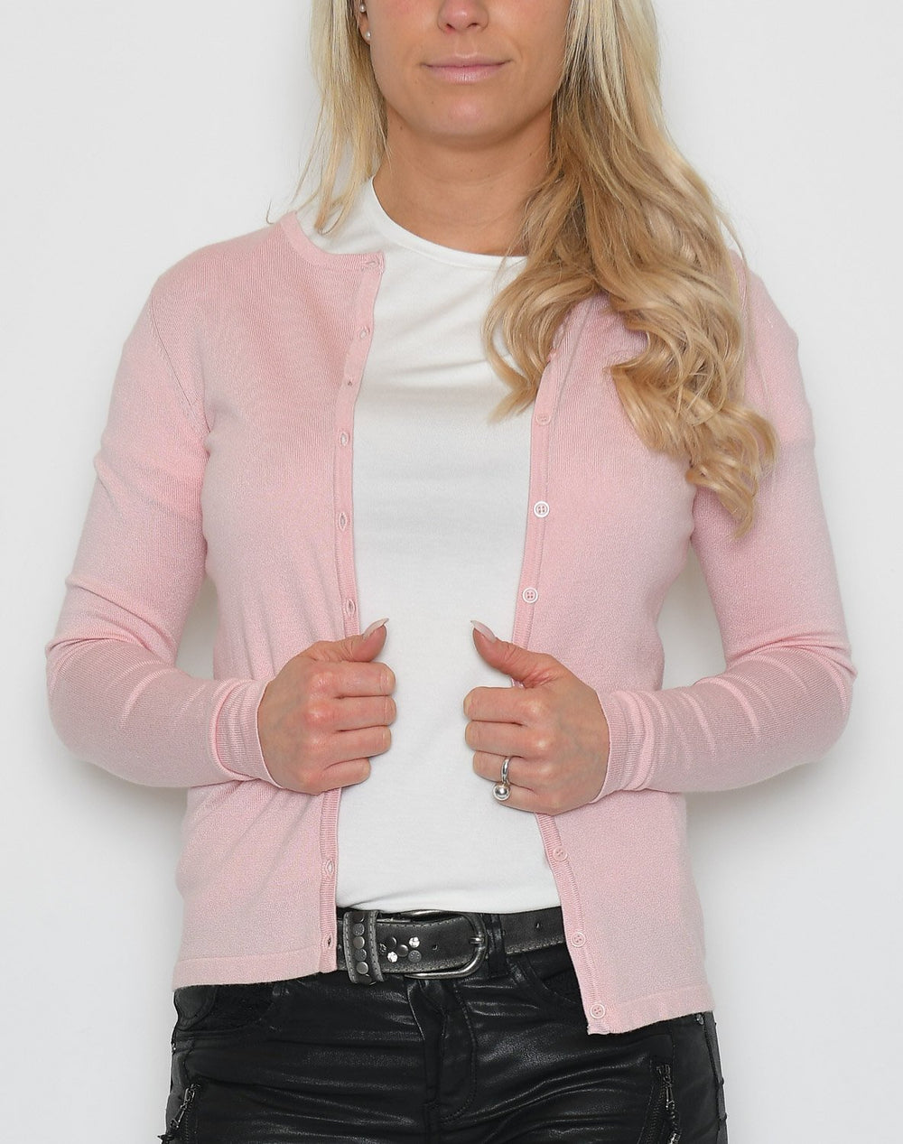 Saint Tropez A8661 L/S cardigan crystal rose - Online-Mode