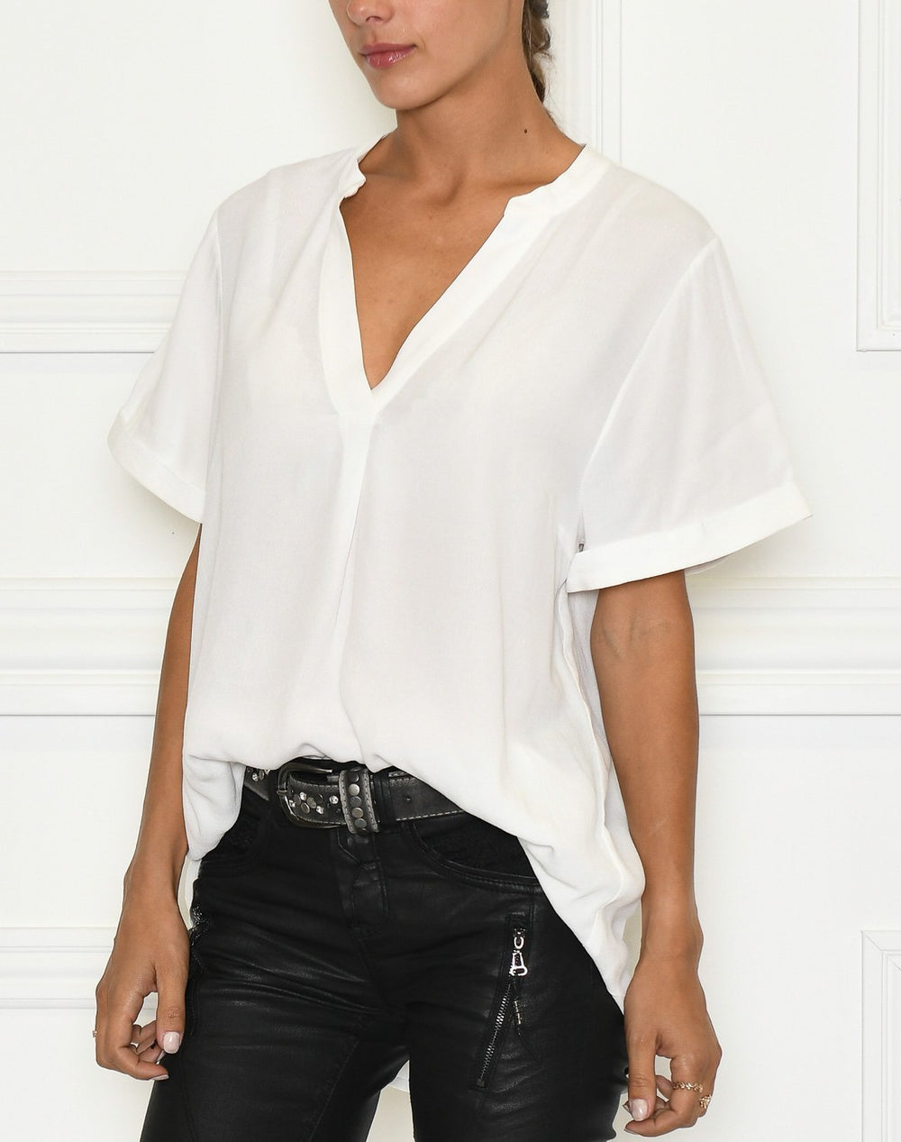 Saint Tropez AgnesSZ SS top bright white - Online-Mode