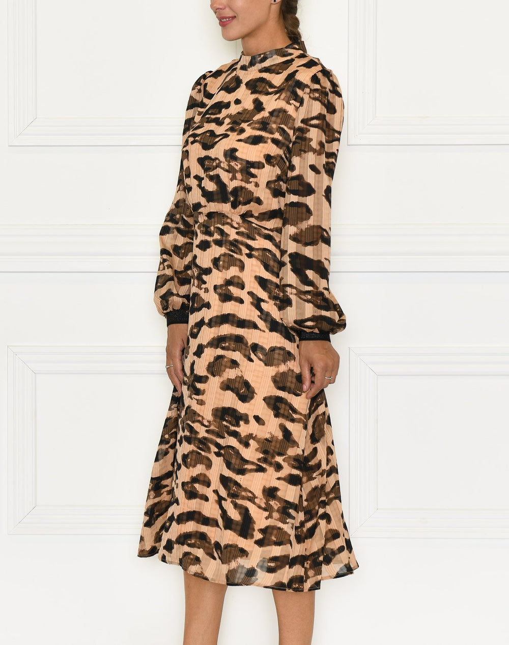 Saint Tropez Belinda dress below knee prairie sand leo - Online-Mode