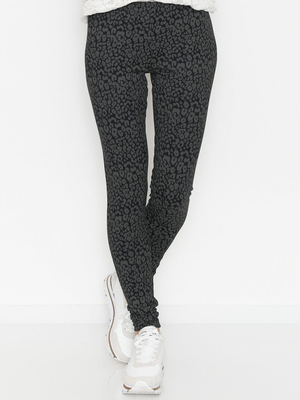 Saint Tropez DavinaSZ leggings black raven leo - Online-Mode