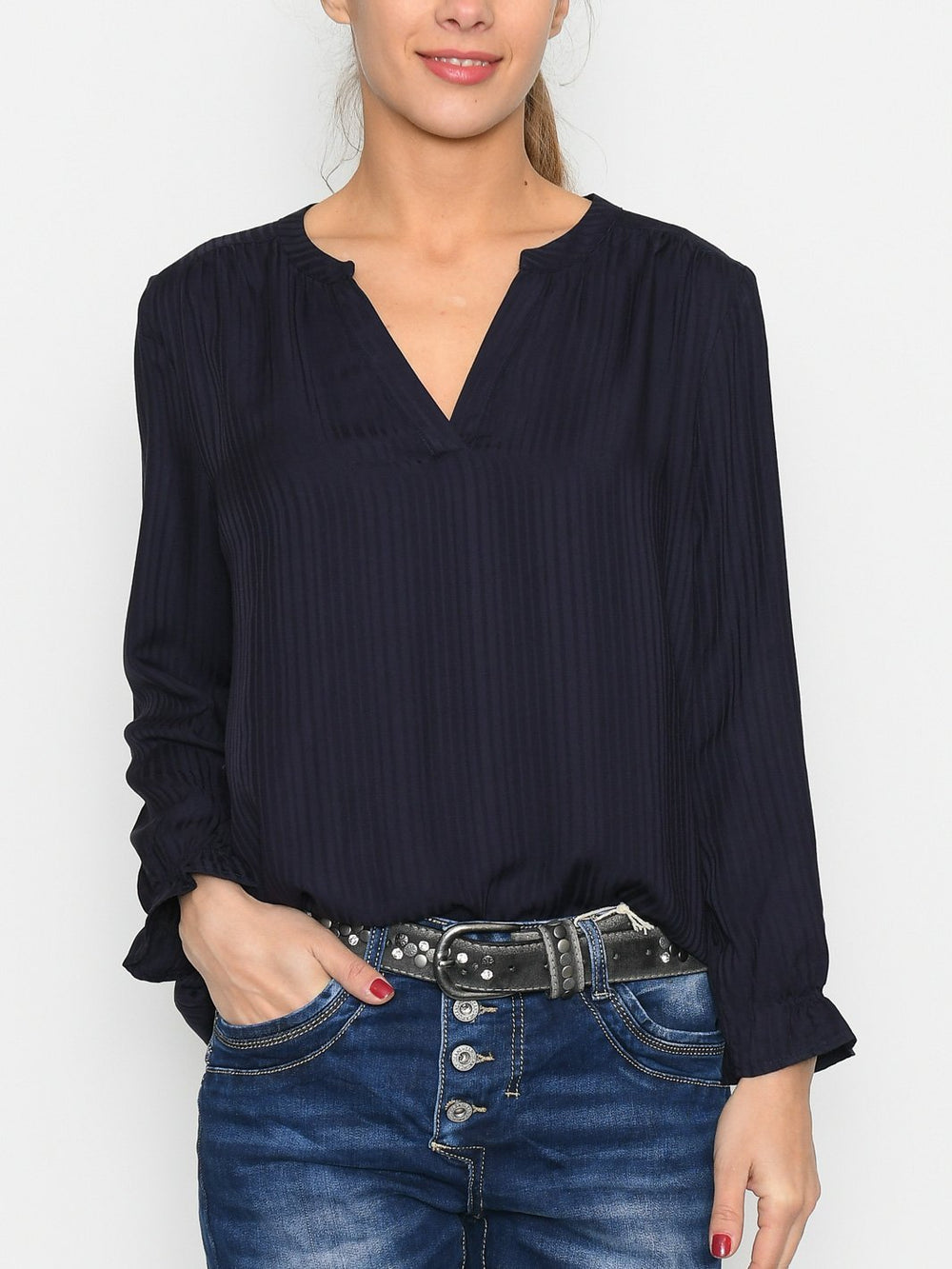 Saint Tropez EloneSZ blouse blue deep - Online-Mode