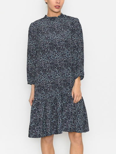 Saint Tropez FloreinSZ dress blue deep flower mania - Online-Mode