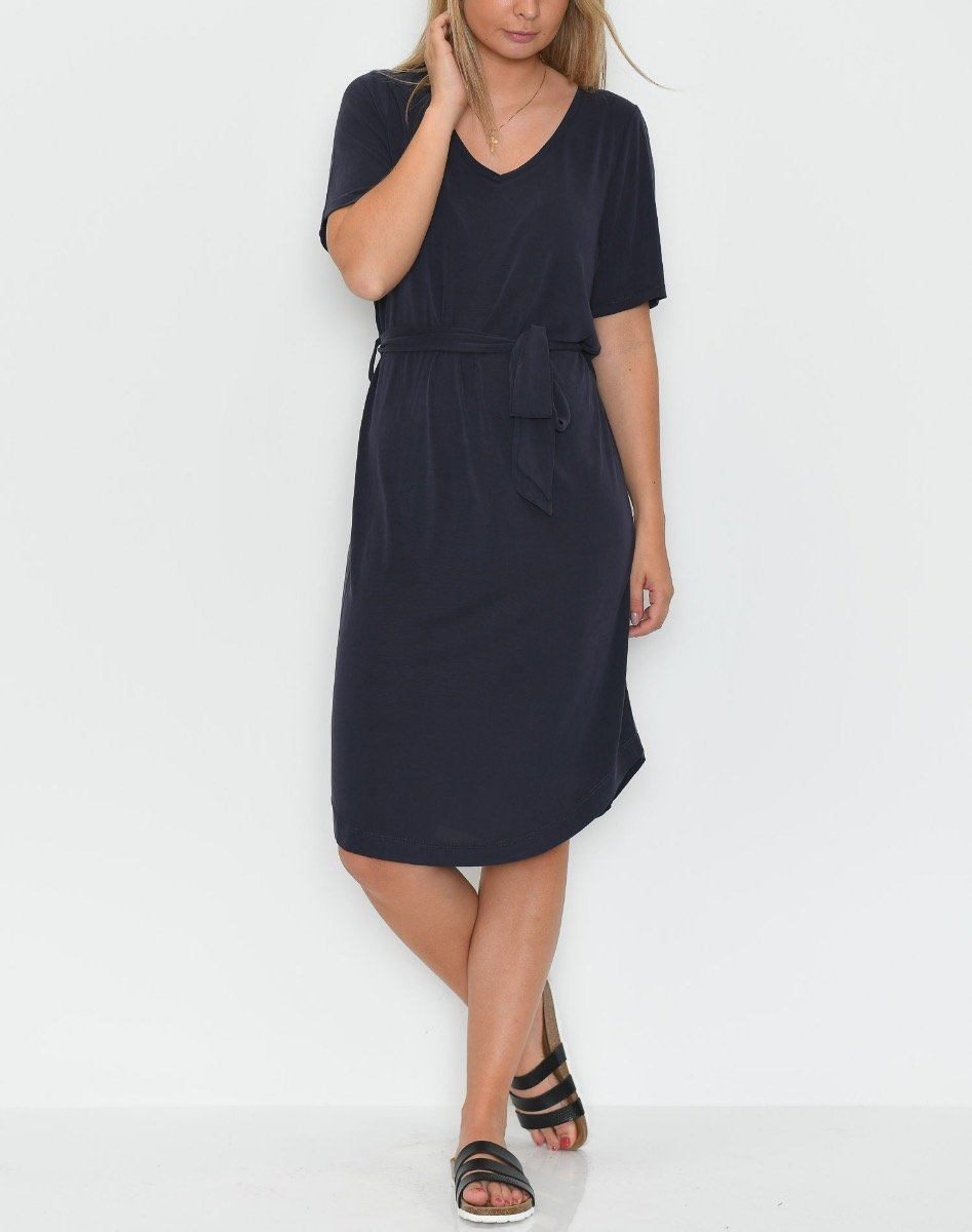 Saint Tropez jersey dress blue deep - Online-Mode