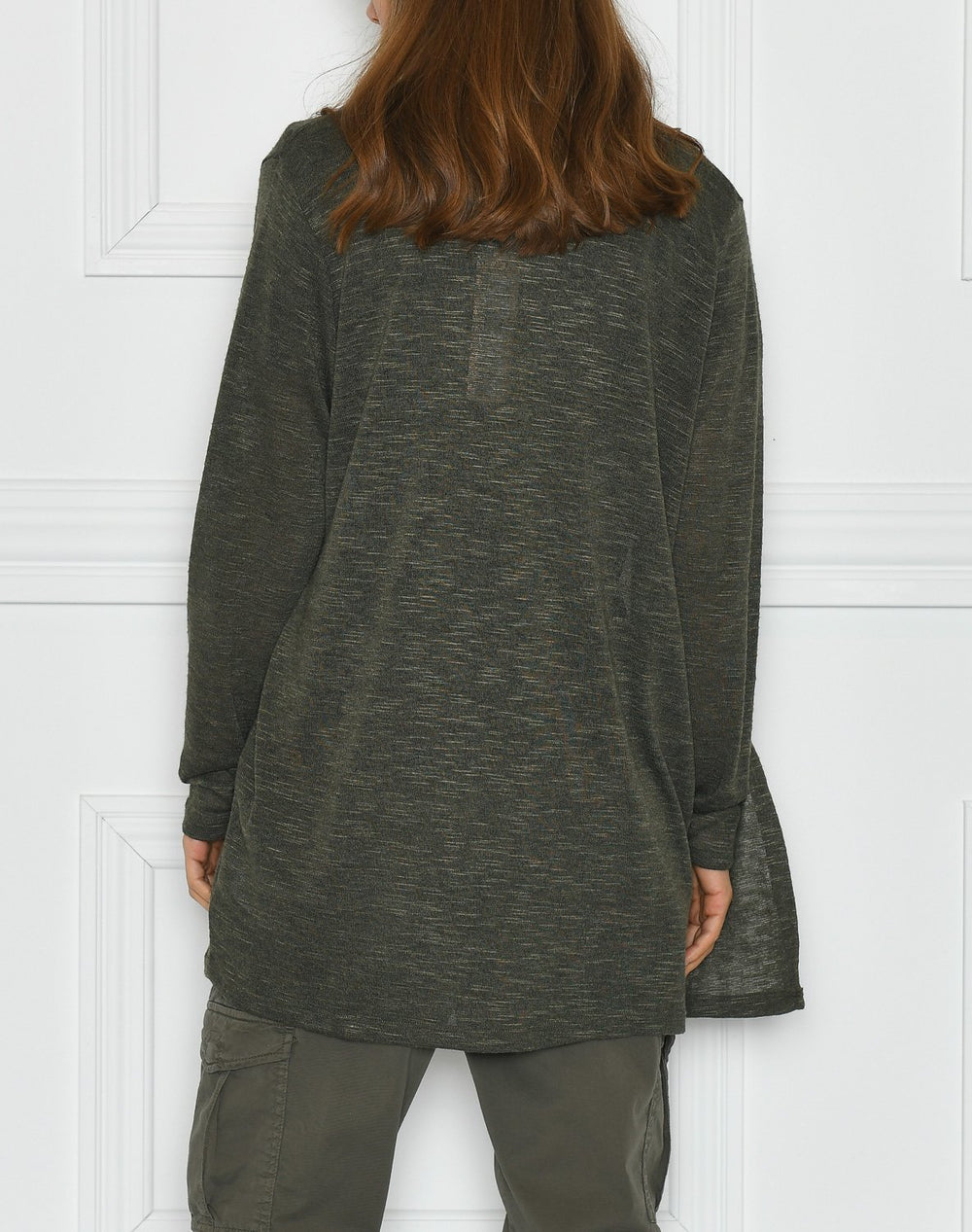 Saint Tropez RoseSZ knit cardigan army green - Online-Mode
