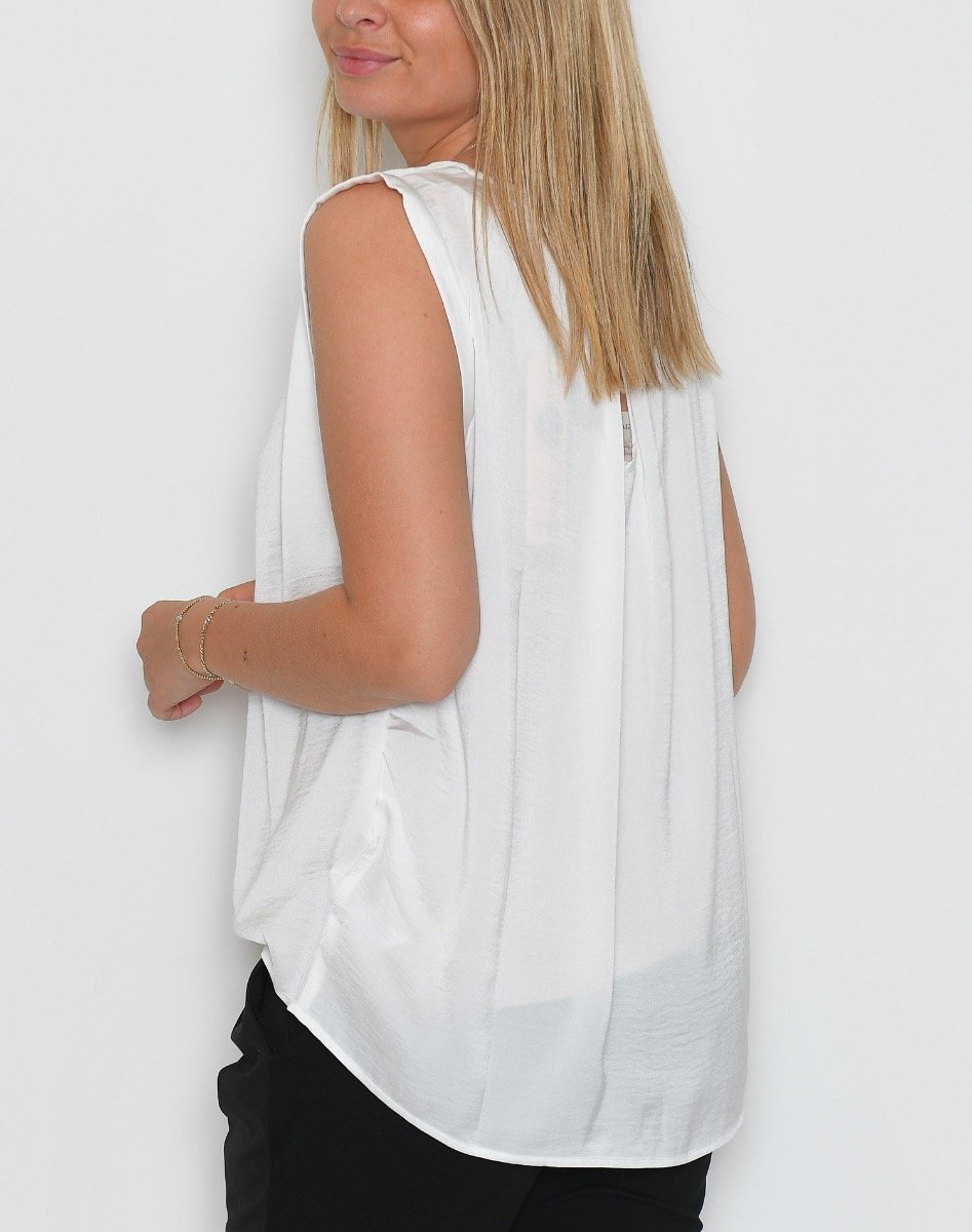 Saint Tropez Top with gather detail ice - Online-Mode