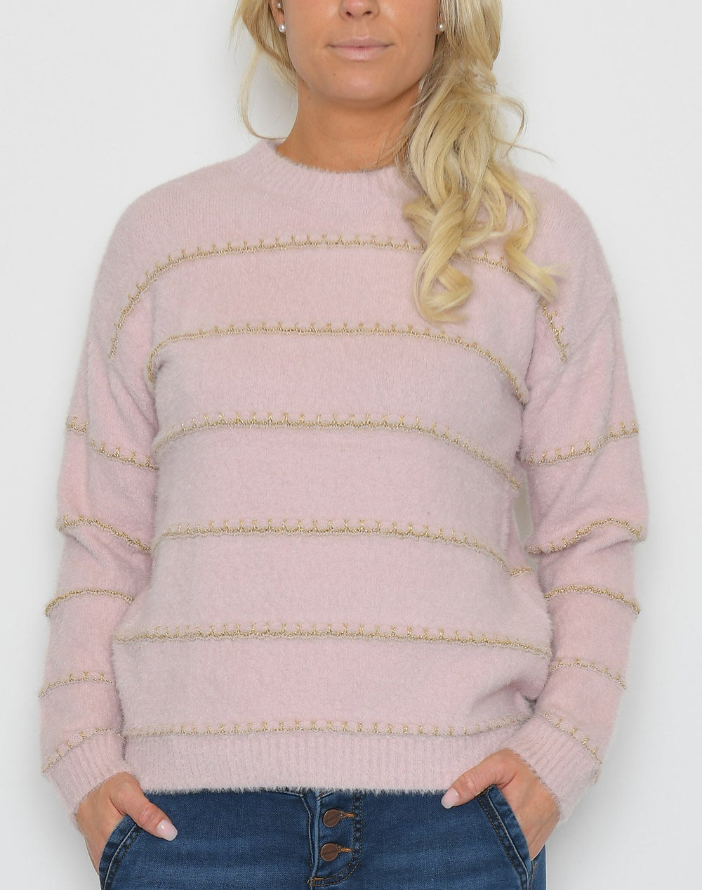 Saint Tropez U2508 knit pullover rose - Online-Mode