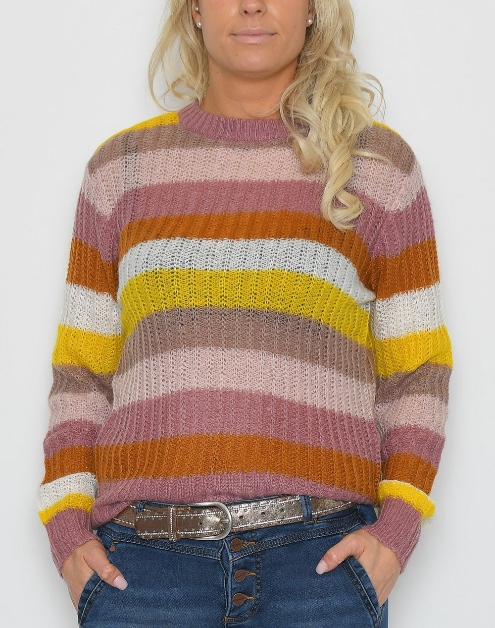 Saint Tropez U2512 Knit pullover rose - Online-Mode