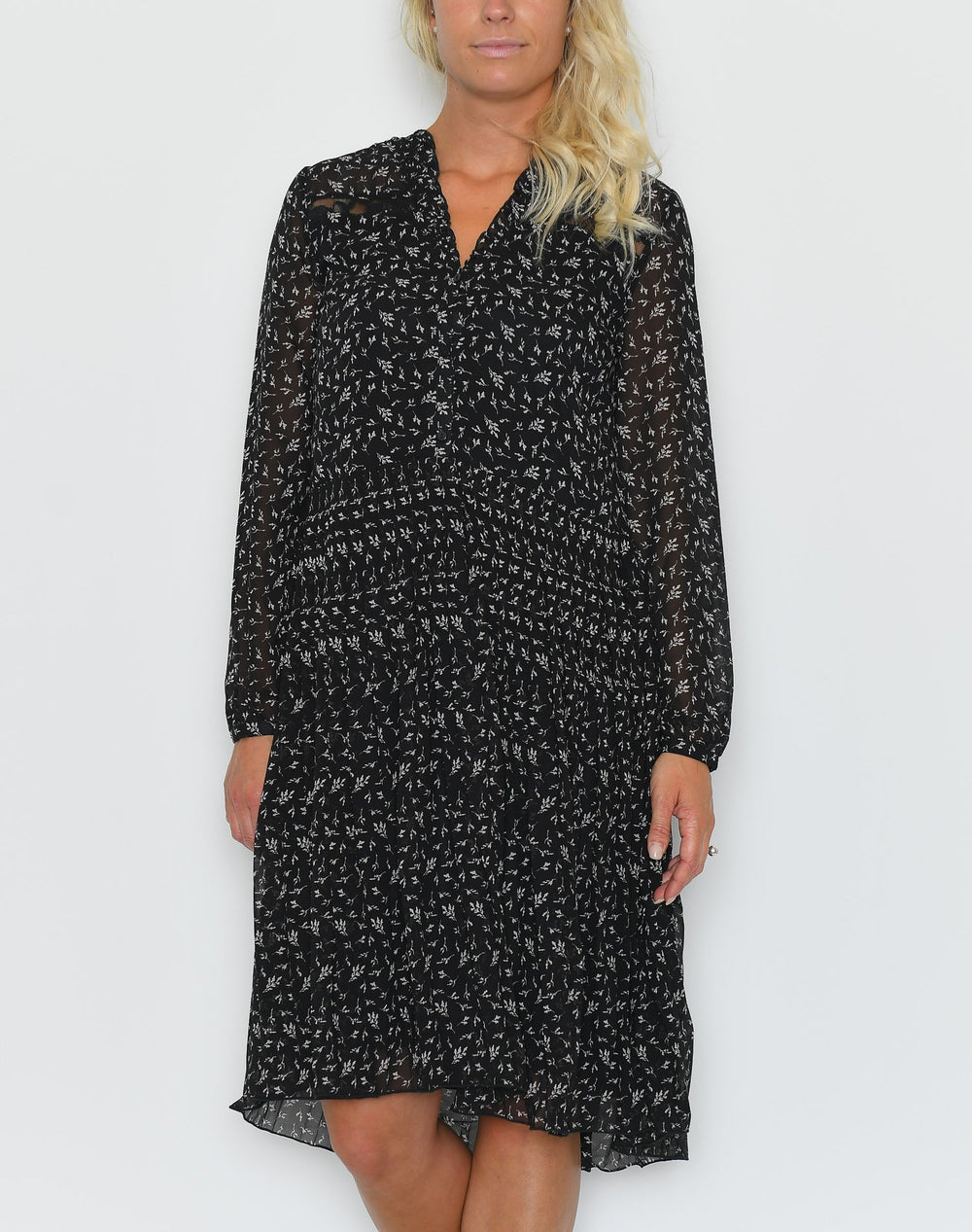 Saint Tropez Woven shirt dress black - Online-Mode