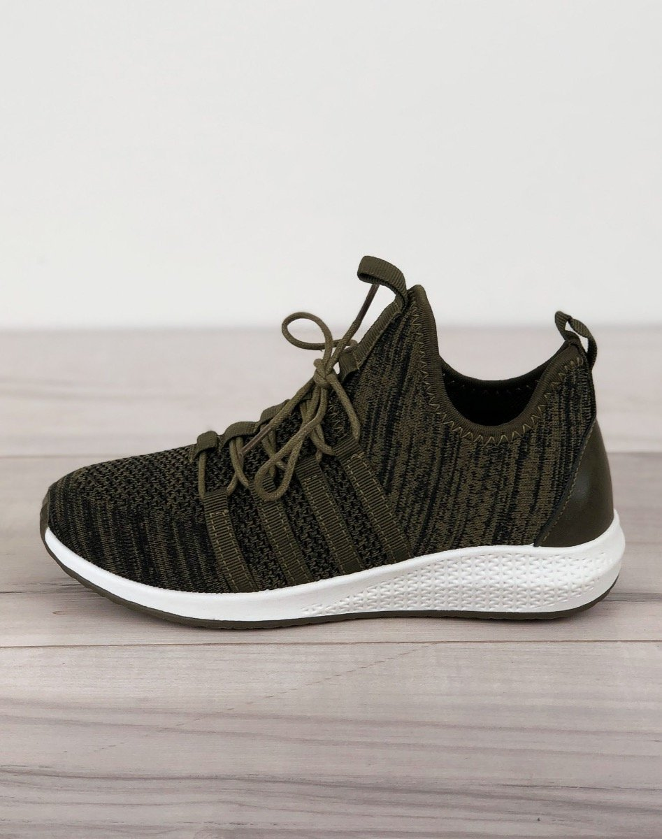 Simone sneakers dark green - Online-Mode